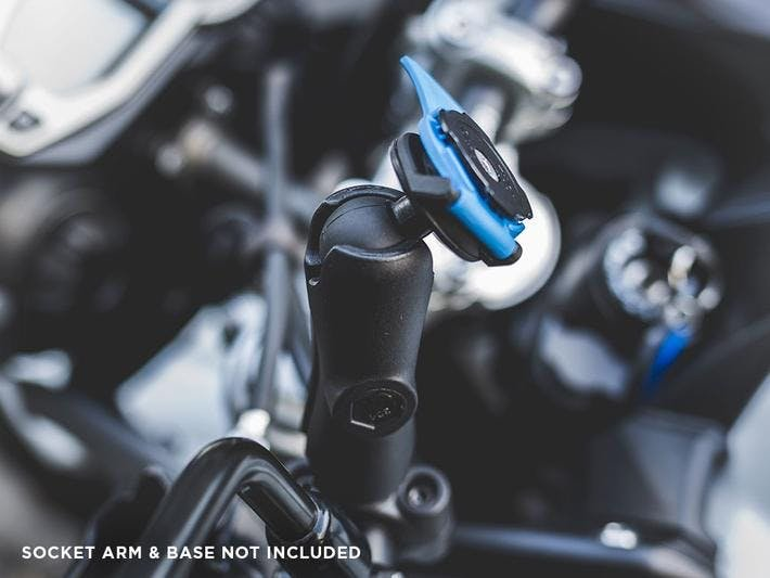 """The 1"""" Ball Adaptor from Quad Lock on a motorcycle"""