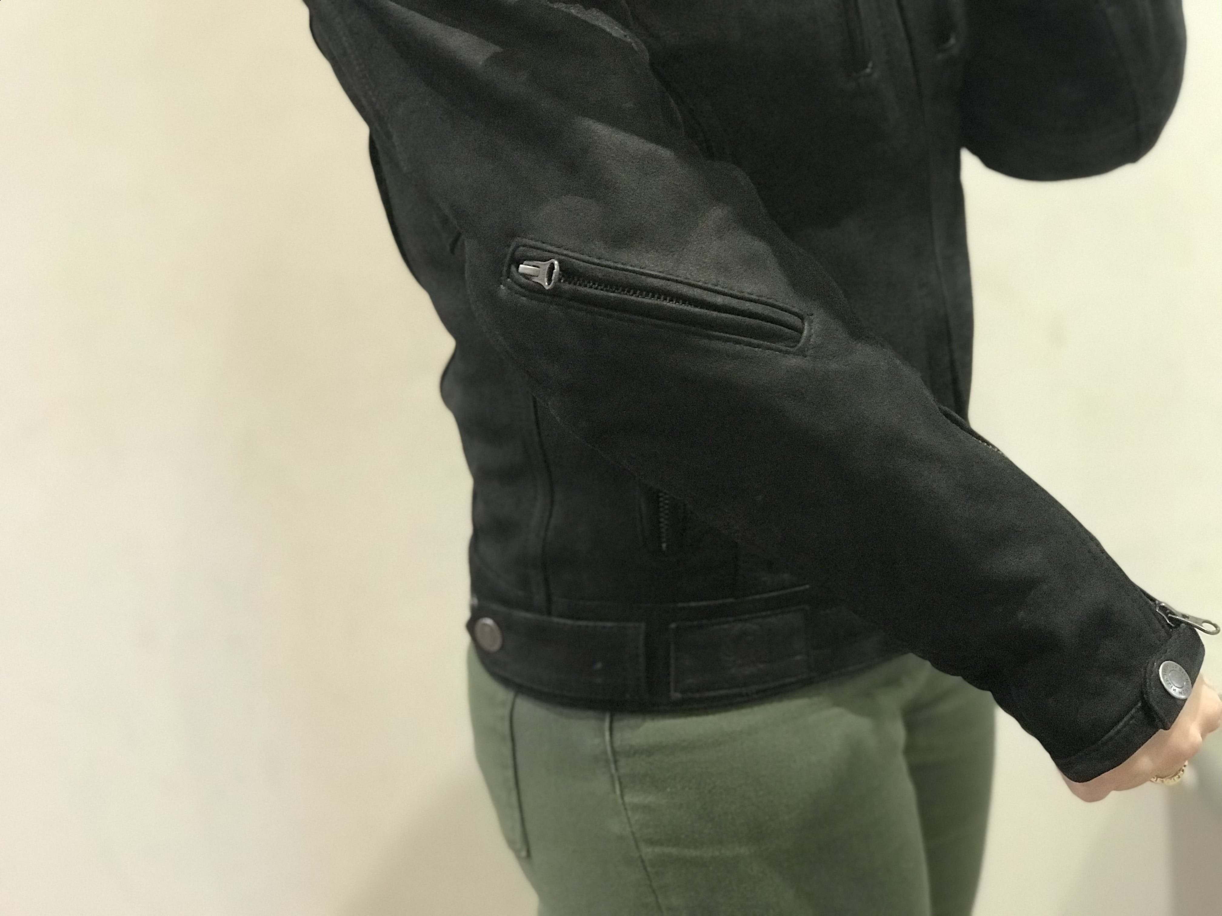 The small arm pocket on the right hand side of the Merlin Mia jacket