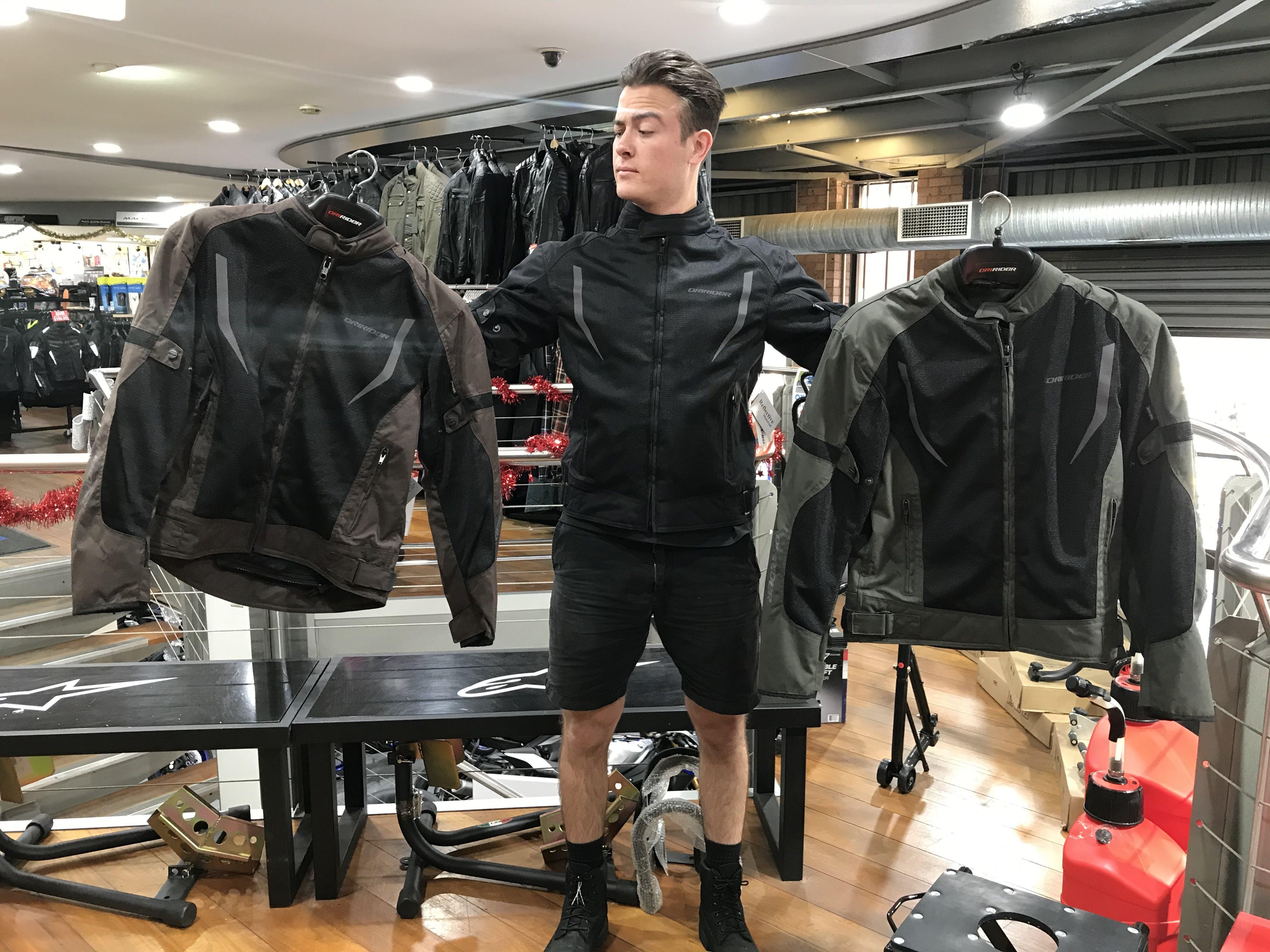 Breeze jackets in store at Bikebiz