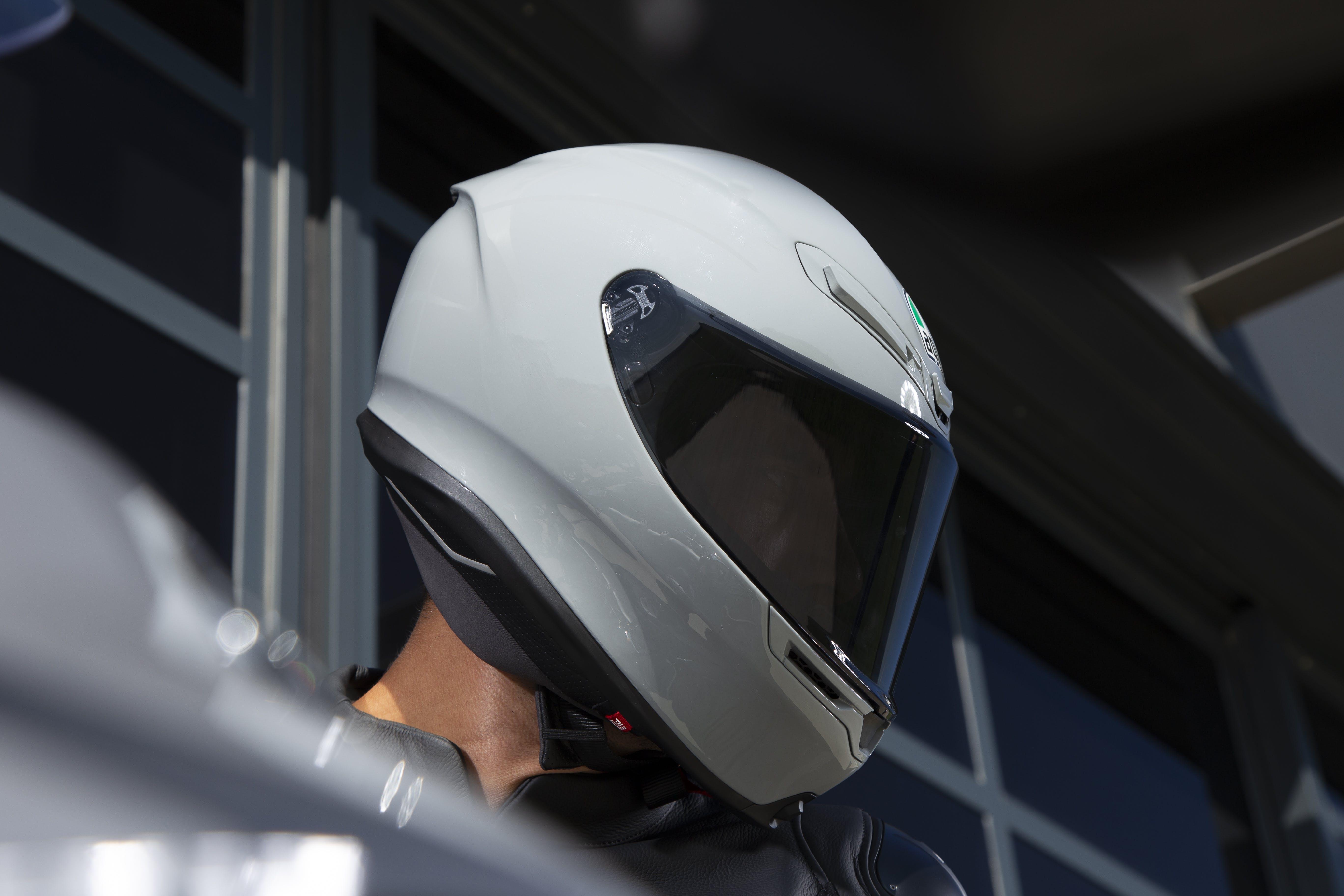 The AGV K6 road helmet in grey