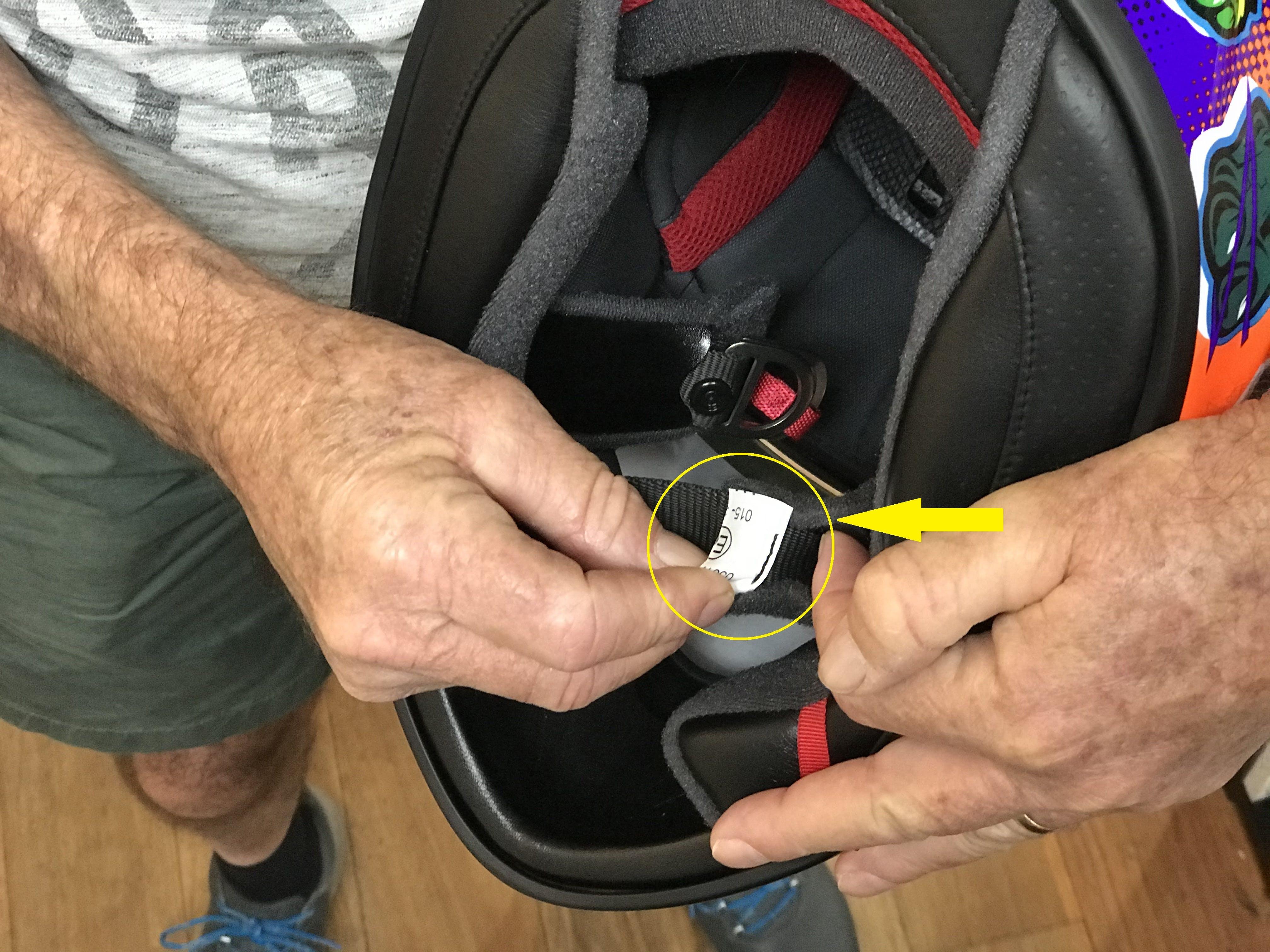 European Standards tag inside a Shoei X-Spirit III