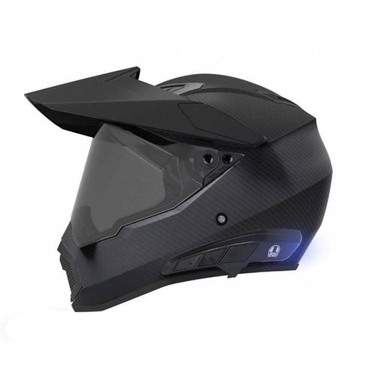 Ark Intercom on AGV AX-9 matte black helmet