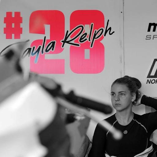 Tayla Relph after a race