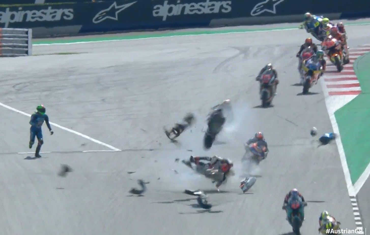 Motot 2 GP crash