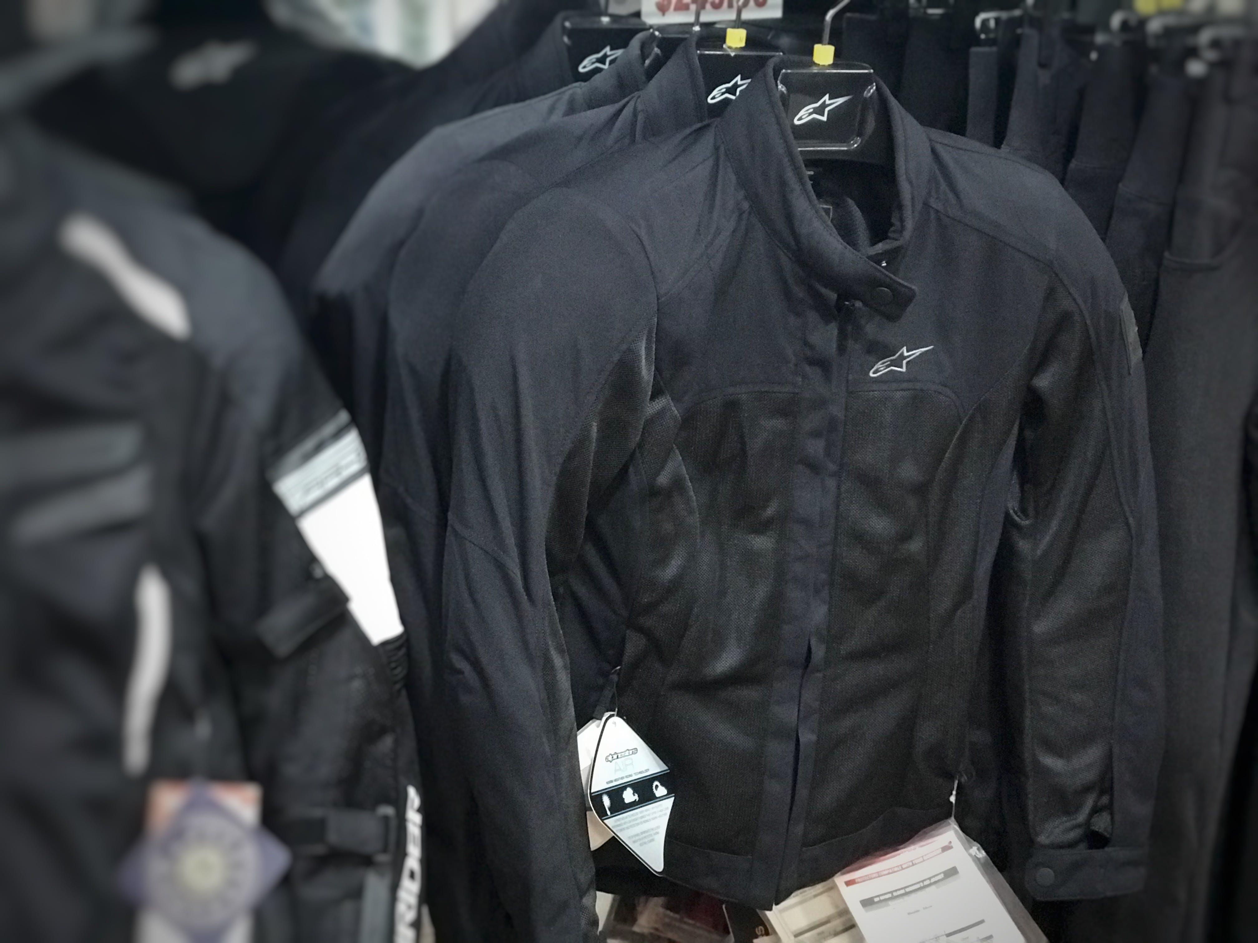 The Stella Eloise jacket in store at Bikebiz in black