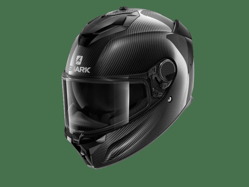 A Carbon Fiber Skin Shark Spartan GT helmet