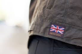 Close up on the logo of a merlin barton jacket
