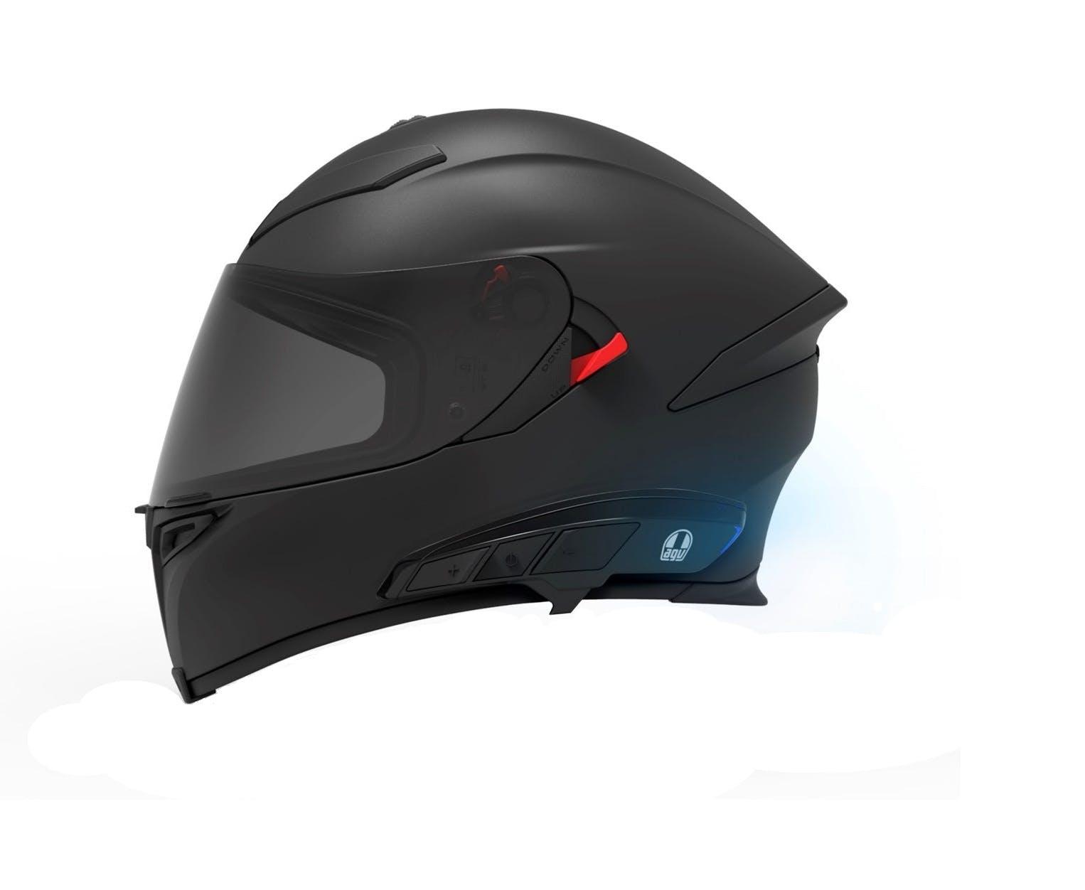 Ark Intercom on AGV K5 matte black helmet
