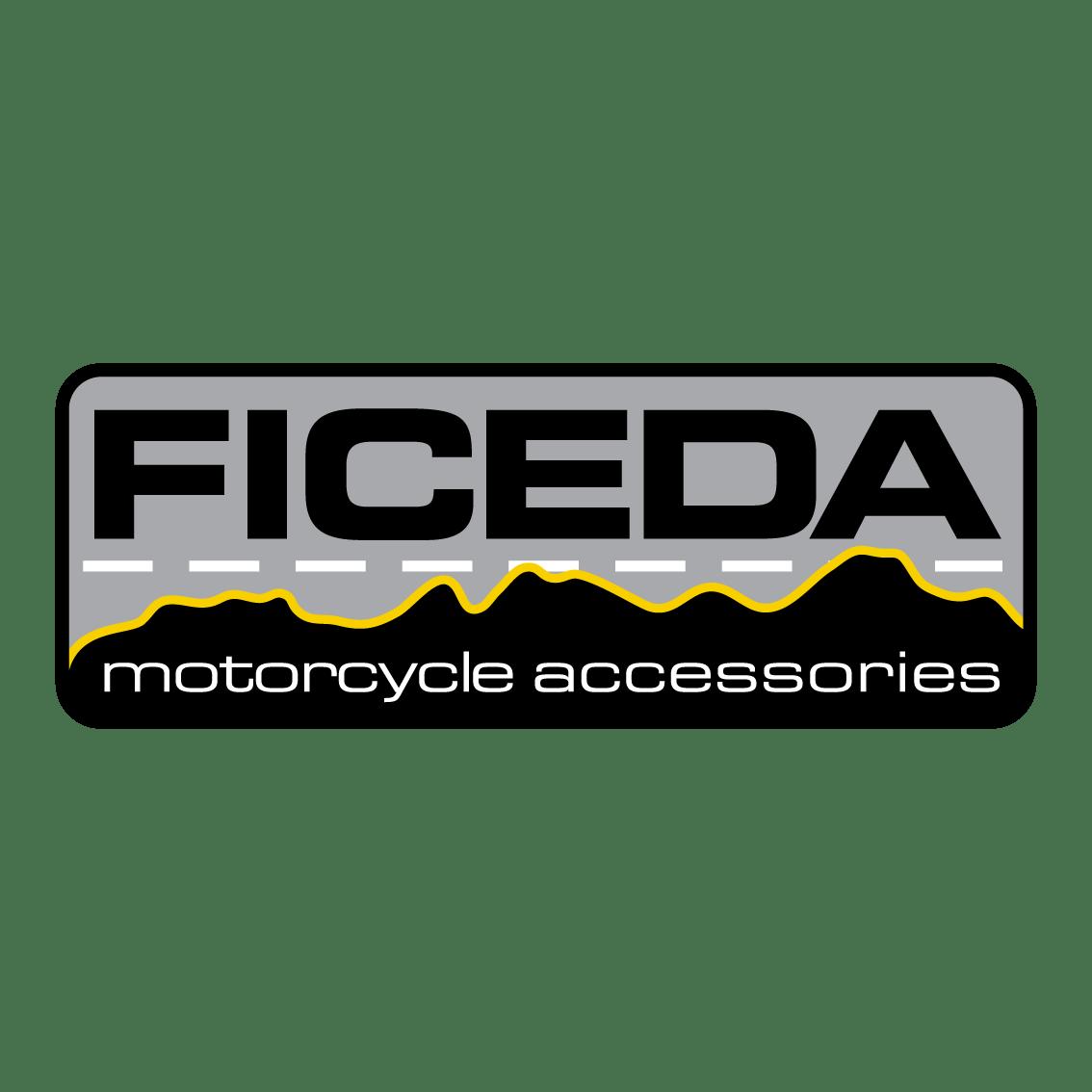 Ficeda grey, black and yellow logo