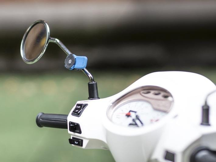 The Mirror Mount from Quad Lock on a scooter