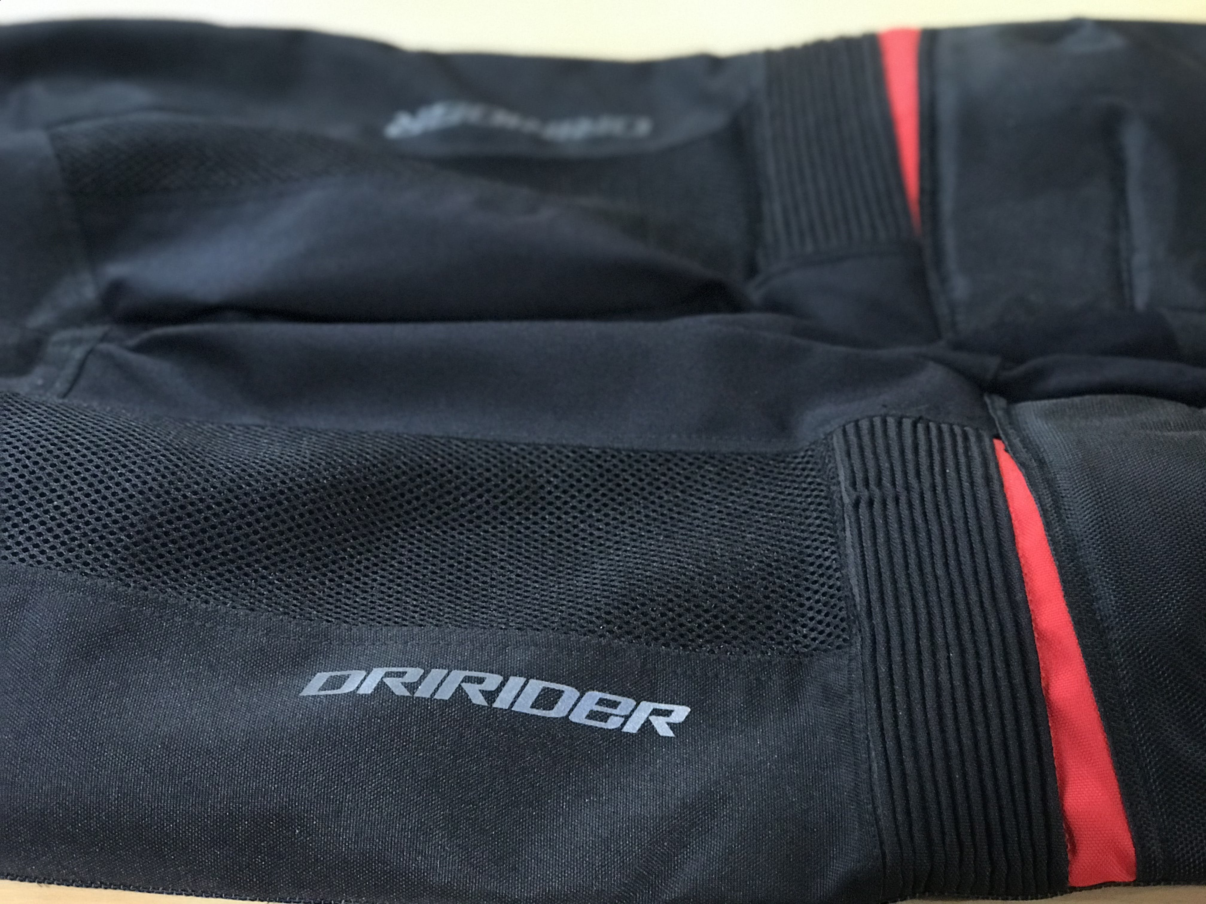 Dri Rider Air Ride textile pant vents in black and red